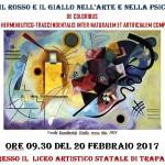 """Convegno """"Il Blu, il Rosso e il giallo nell'arte e nella Psicologia"""" - 20 febbraio 2017 presso I. I. S.""""ROSINA  SALVO"""" di Trapani"""